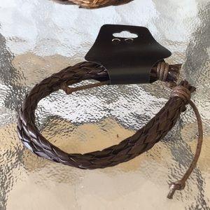 Men's Faux Leather Bracelet